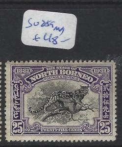 NORTH BORNEO  (P0612B)  CENT 25C BIG CAT SG 259  MOG