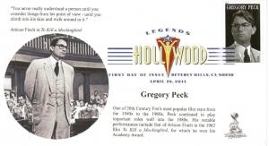 Gregory Peck First Day Cover, with DCP postmark