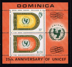 DOMINICA STAMP 1971 The 25th Anniversary of UNICEF MNH S/S