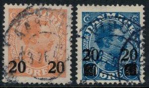 Denmark #176-7  CV $34.00