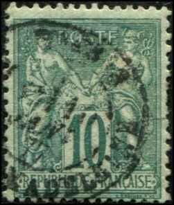 France SC# 68 Peace & Commerce 10c  Used  SCV $21.00