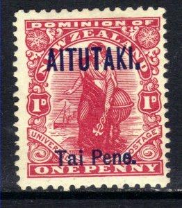 Aitutaki 1911 – 16 KGV 1d Carmine MM Ovpt SG 10 ( F10 )