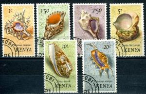 Kenya SC# 45-50 Sea Shells, Cancelled