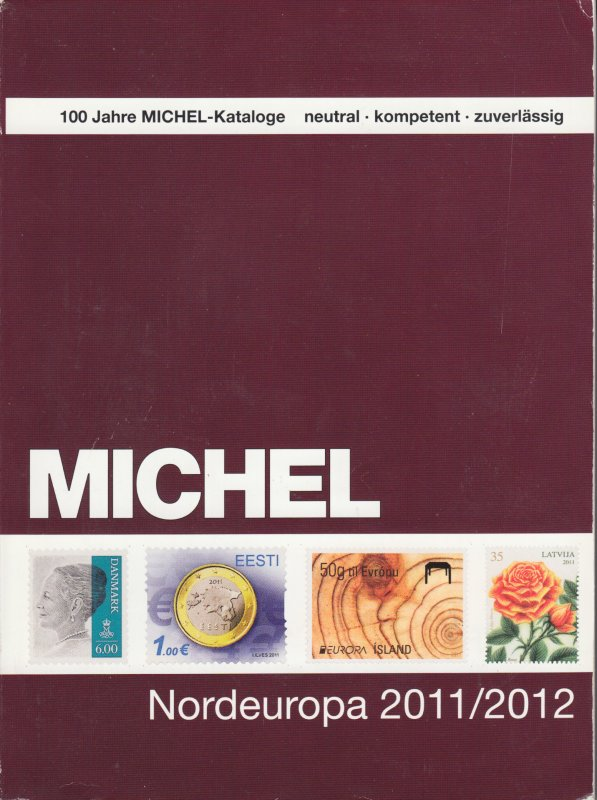 Michel Nordeuropa 2011/2112 stamp catalog for Northern European countries, used