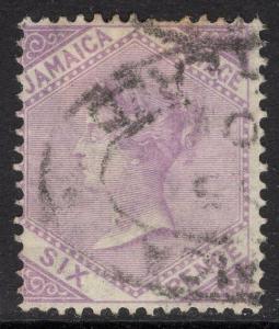 JAMAICA SG12 1871 6d MAUVE USED