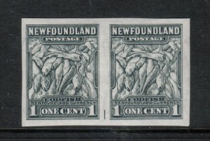 Newfoundland #253a Extra Fine Never Hinged Imperf Pair With Part Guideline