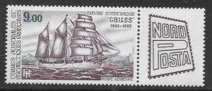 FRENCH SOUTHERN & ANTARCTIC TERRITORIES SG195 1984 STAMP EXHIBITION HAMBURG MNH