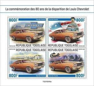 2021/06- TOGO -  LOUIS CHEVROLET           4V    MNH **