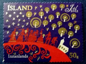 Iceland Christmas 2012 Scott # 1290  Used (I756)