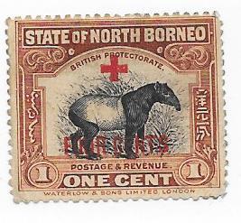 North Borneo #b31 RED CROSS OVERPRINT  (u) CV $5.00
