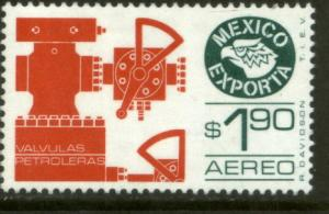 MEXICO EXPORTA C492, $1.90P. OIL VALVES, PAPER 1. MINT, NH. F-VF.