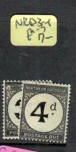 NORTHERN RHODESIA  (P01006B) POSTAGE DUE 3D-4D  SG D3-4   MOG