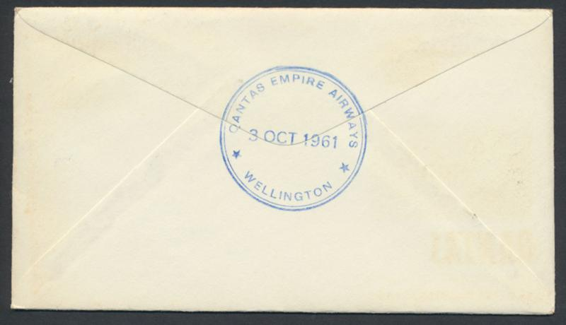 1961 Qantas First Flight Cover Sydney  Wellington AAMC 1451 SPECIAL - please ...
