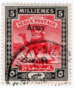 (I.B) Sudan Postal : Army Service 5m