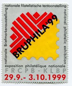 BRUPHILA 1999 99 World Philatelic Exhibit Poster FRCPB-KLBP Belgium Expo