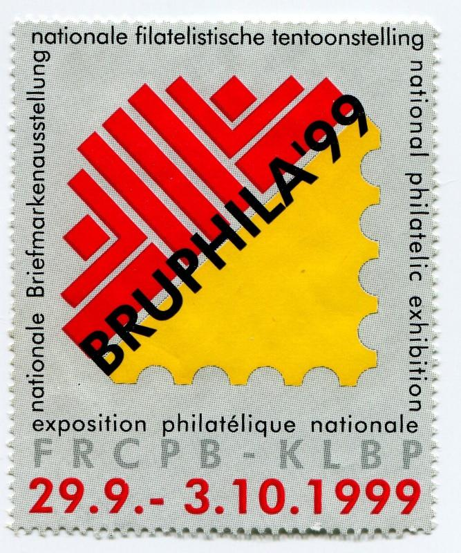 BRUPHILA 1999 99 World Philatelic Exhibit Poster FRCPB-KLBP Belgium Expo
