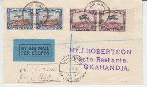 Southwest Africa - 1931 - SC C5-6 - Used - Cover - Pristine - Rare