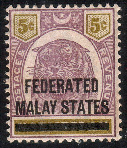 MALAYA FMS 1900 5c SG4 fine mint hinged....................................10502