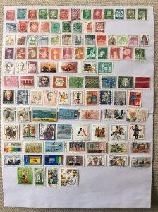 German 100+ stamps - Lot 12