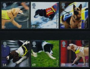 Great Britain 2539-44 MNH Working Dogs