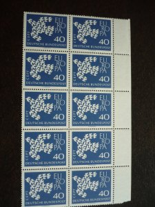 Europa 1961 - Germany - Block of 10