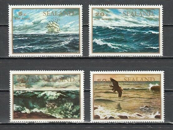 Sealand, Local issue. Sea Scenes Paintings. ^