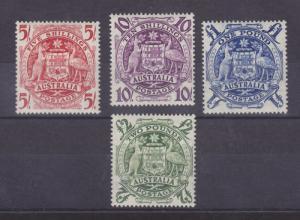 Australia Sc 218-221 MLH. 1949-1950 Coat of Arms cplt VF