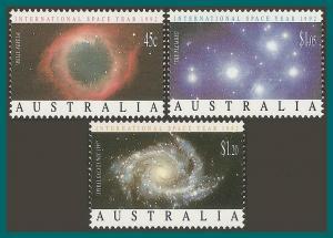 Australia 1992 Space Year, MNH  #1258-1260,SG1343-SG1345