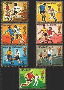 Paraguay. 1973. 2465-71. Football. MVLH.