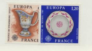 France Scott #1478 To 1479, Mint Never Hinged MNH, Europa Issue From 1976 - F...