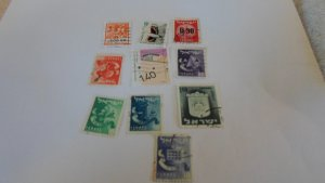 ISRAEL STAMPS MIXED CONDITION. LOT OF 10 STAMPS ( 4