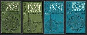 Isle of Man Viking Longships Celtic Cross Logo Manx Heritage Year 2 Booklets