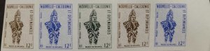 O) 1972 NEW CALEDONIA, IMPERFORATE, TCHAMBA MASK, SCT 402 12fr, OBJECTS FROM N