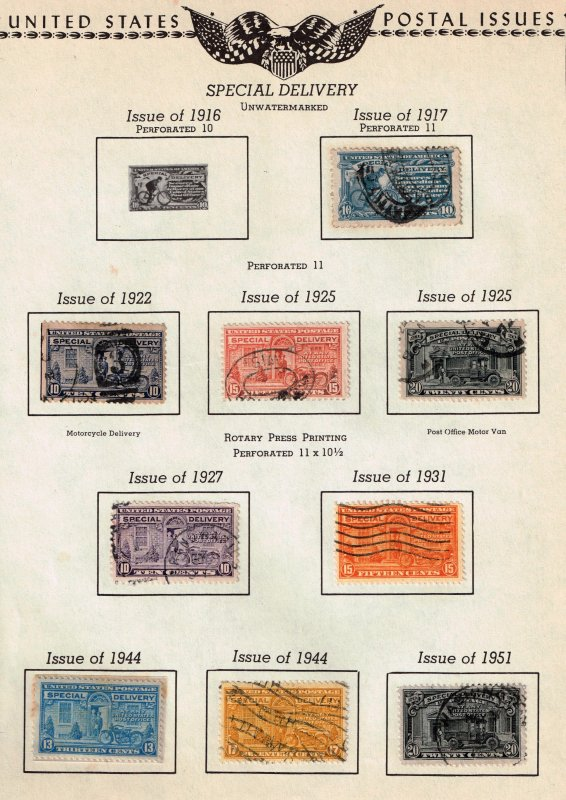 US STAMP BOB SPECIAL DELIVERY USED STAMPS COLLECTION LOT #2