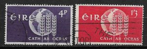 1963 Ireland 186-7 Freedom from Hunger Campaign C/S of 2 used