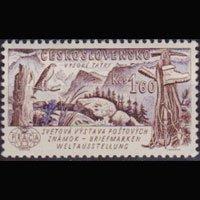 CZECHOSLOVAKIA 1961 - Scott# 1076 Mountain 1.6k NH