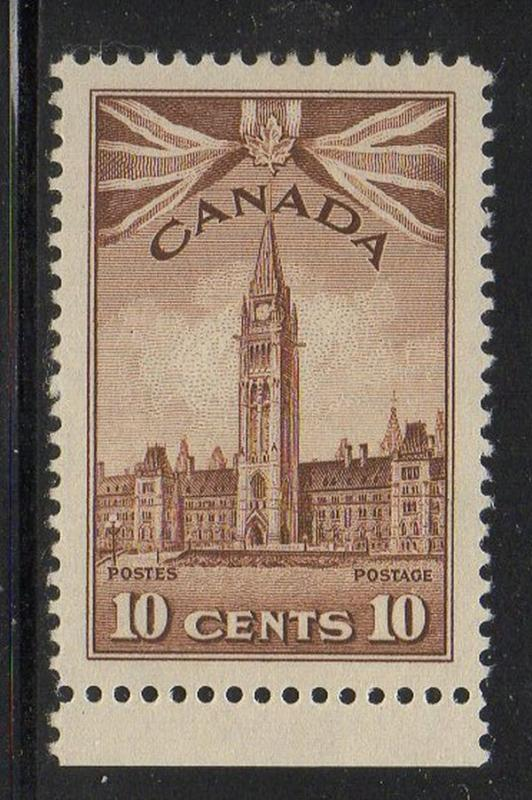Canada Sc 257 1942 10c Parliament Tower  stamp mint