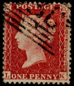 SG40, 1d rose-red, LC14, FINE USED. Cat £12. LK