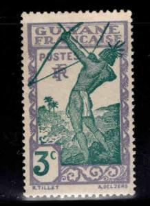 French Guiana Scott 111 MH* stamp expect similar centering