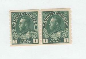 CANADA # 125 VF-MNH 1cts KGV ADMIRAL COIL PAIR  /1912 / GREEN CAT VALUE $200