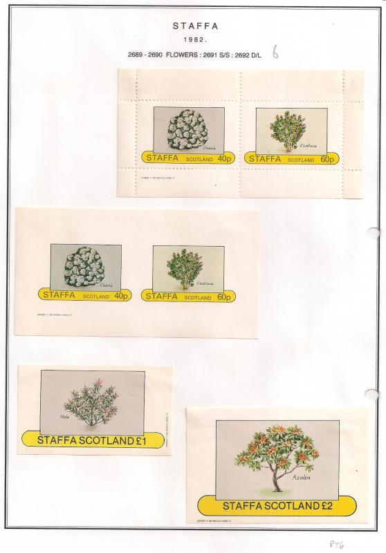 SCOTLAND - STAFFA - 1982 - Flowers #6 - Perf, Imperf 2v, Souv, D/L Sheets - MLH