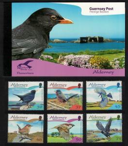 Alderney Residential Birds 2nd series Passerines Prestige Booklet of 4 sets