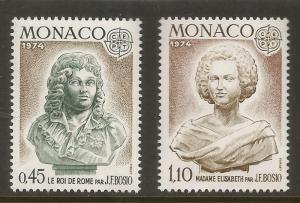 MONACO  903-904  MNH,  COMMON DESIGN,  EUROPA '74