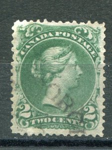 Canada #24bii  blue green  Used  almost VF  -  Lakeshore Philatelics