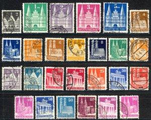 Germany Sc# 634-661 (no 20pf blue, 84pf) Used 1948 Buildings
