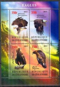 Ivory Coast 2013 Birds (2) Eagles MNH Cinderella !