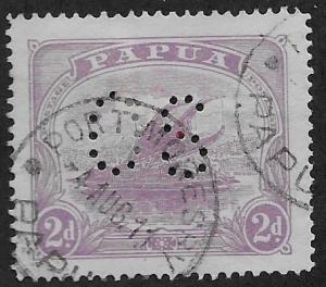 PAPUA NEW GUINEA SC# 52 PERFIN CANCEL  FVF/U 1911