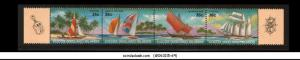 COCOS (KEELING) ISLANDS - SHIPS & YATCH - SE-TENANT 36c X 4 - MINT NH