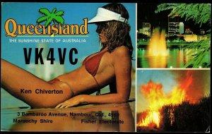 QSL QSO RADIO CARD Ken Chiverton,Queensland, Brisbane, Australia (Q2857)