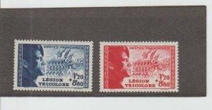 France  Scott#  B147-B148  MH  (1942 Tricolor Legion)